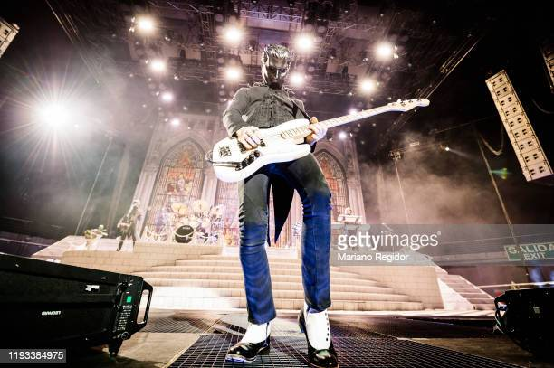 Nameless Ghoul from the Swedish metal band Ghost performs onstage at Wizink Center on December 11, 2019 in Madrid, Spain.