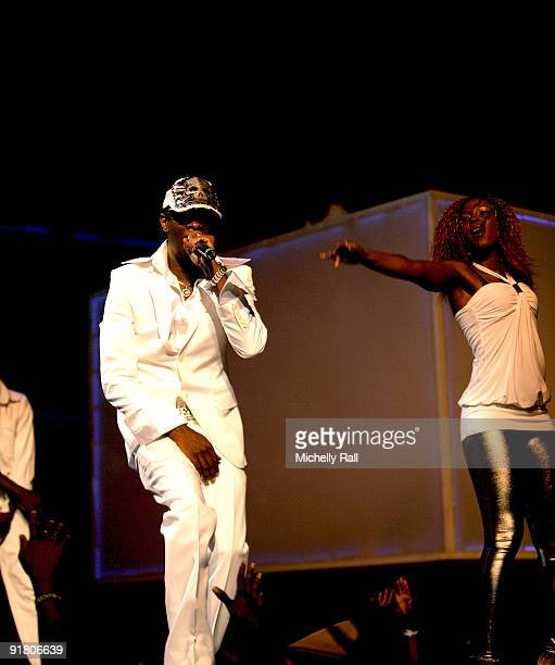 Nameless performs at the MTV Africa Music Awards with Zain at the Moi International Sports Centre on October 10 2009 in Nairobi Kenya
