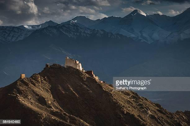Namgyal Tsemo Gompa and Himalaya, Leh Ladakh
