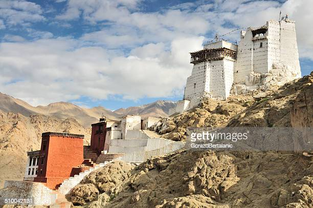 namgyal tsemo gompa (namgyal tsemo monastery), leh, ladakh, india - shrine stock pictures, royalty-free photos & images
