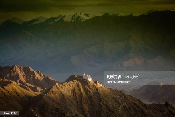 Namgyal Tsemo Monastery before sunset in Leh Ladakh,India