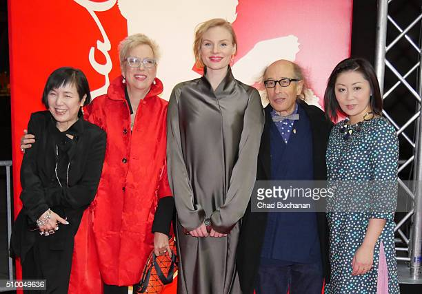 Nami Kamata Doris Doerrie Rosalie Thomass Moshe Cohen and Nami Kamata attend the 'Gruesse aus Fukushima' premiere during the 66th Berlinale...