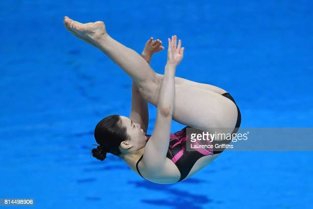 Nami Kim of Korea competes during the Womens 1M Springboard Diving preliminary round on day one of the Budapest 2017 FINA World Championships on July...