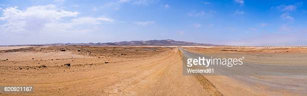Namibia, coastal road between Swakopmund and Cape Cross, Lagunenberg in the background