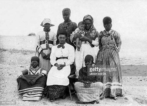Namibia DeutschSuedwestafrika Windhoek Herero woman in western clothes Published by 'Berliner Illustrirte Zeitung' 49/1904Vintage property of...