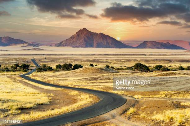namibia. driving to sossusvlei. namib desert - marco brivio stock pictures, royalty-free photos & images