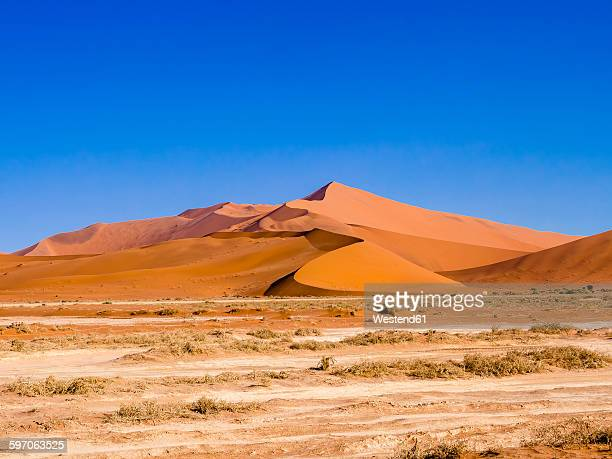 Namibia, Hardap, Sossusvlei, Sand dune at Namib-Naukluft National Park