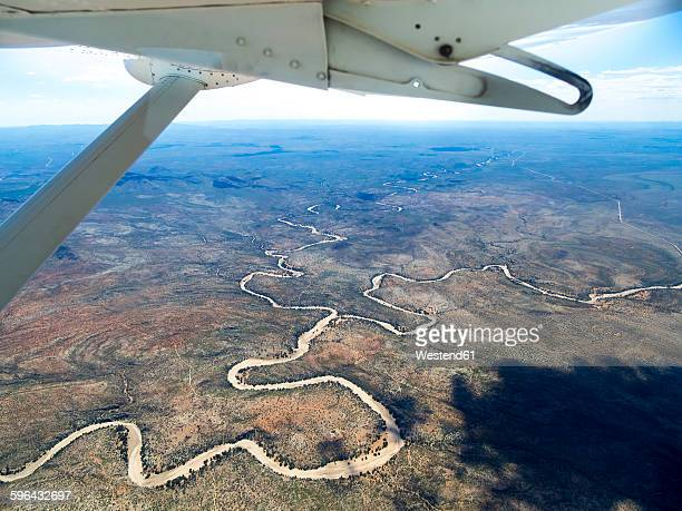 namibia, khomas, aerial view of gocheganas nature reserve - nature reserve stock pictures, royalty-free photos & images