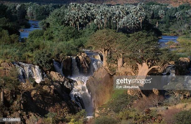 Namibia Kunene River Epupa Falls waterfall situated on the northern border with Angola