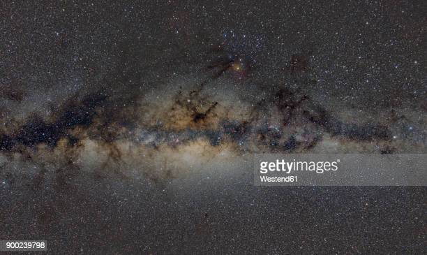 Namibia, Region Khomas, near Uhlenhorst, Astrophoto, Band of Milky Way featuring the bulge of our galaxy and the galactic center