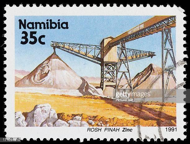 Namibia zinc mining postage stamp