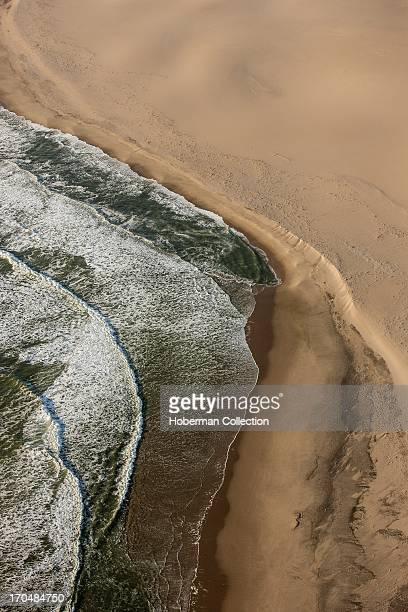 Namibian desert meets atlantic ocean