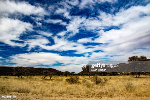 namibian sky - prairie stock photos and pictures