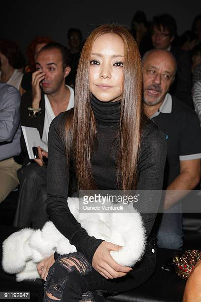 Namie Amuro attend the Fendi show as part of Milan Womenswear Fashion Week Spring/Summer 2010 at on September 27 2009 in Milan Italy