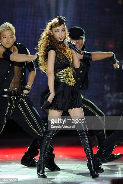 Namie Amuro performs on stage during the World Music Awards 2010 at the Sporting Club on May 18 2010 in Monte Carlo Monaco