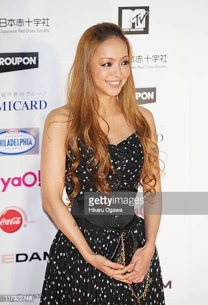 Namie Amuro walks on the red carpet during the MTV Video Music Aid Japan on June 25 2011 in Chiba Japan