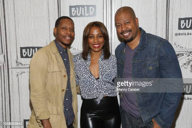Namir Smallwood Karen Pittman and Morocco Omari attend Build Series to discuss Pipeline at Build Studio on October 9 2018 in New York City