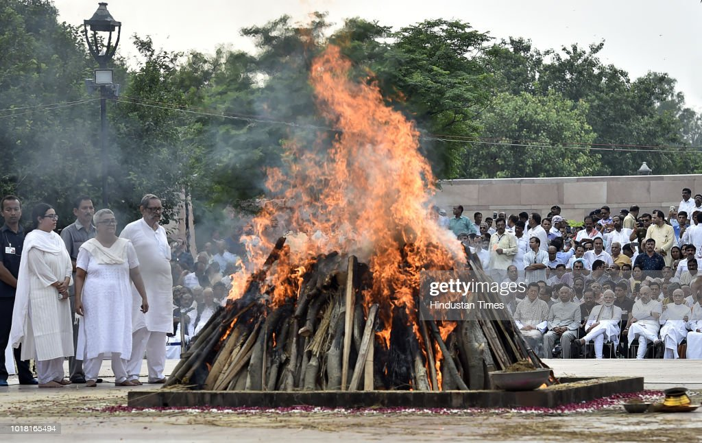 Last Rites Of Former Prime Minister Atal Bihari Vajpayee At Smriti Sthal