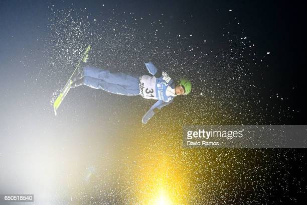 Namjeen Kim of South Korea in action during Men's Aerials Training on day two of the FIS Freestyle Ski and Snowboard World Championships 2017 on...