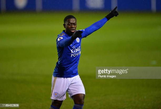 Nampalys Mendy of Leicester City during the Leicester City U23 v Villarreal B PL International Cup at Holmes Park on December 18th 2019 in Leicester...