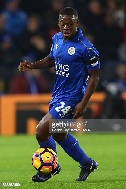 Nampalys Mendy of Leicester City during the Premier League match between Leicester City and Chelsea at The King Power Stadium on January 14 2017 in...
