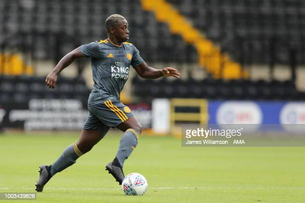 Nampalys Mendy of Leicester City during the preseason match between Notts County and Leicester City at Meadow Lane on July 21 2018 in Nottingham...