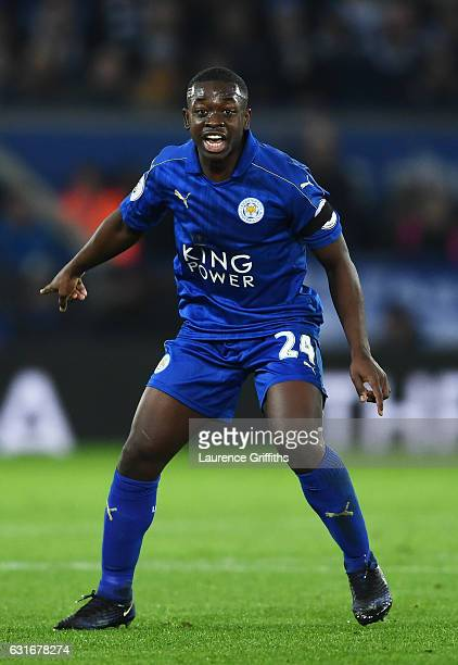 Nampalys Mendy of Leicester City in action during the Premier League match between Leicester City and Chelsea at The King Power Stadium on January 14...