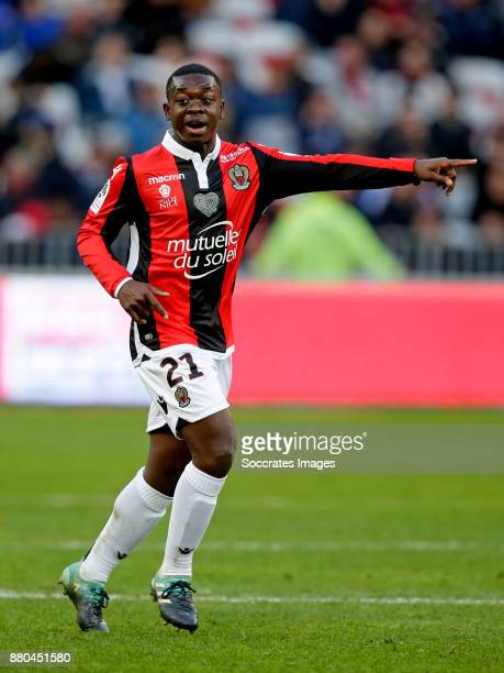 Nampalys Mendy of Nice during the French League 1 match between Nice v Olympique Lyon at the Allianz Riviera on November 26 2017 in Nice France