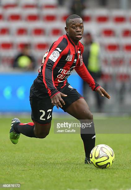 Nampalys Mendy of Nice in action during the French Ligue 1 match between OGC Nice and AS SaintEtienne ASSE at the Allianz Riviera stadium on December...