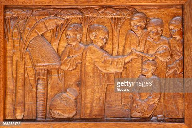 Namugongo catholic martyrs' shrine Kampala Church door relief Uganda
