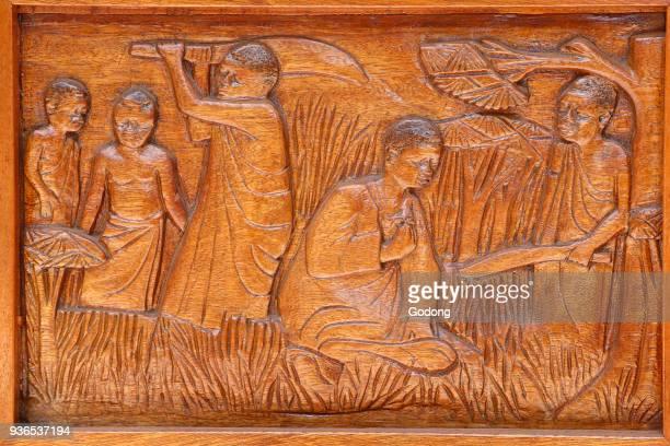 Namugongo catholic martyrs' shrine Kampala Church door relief Uganda
