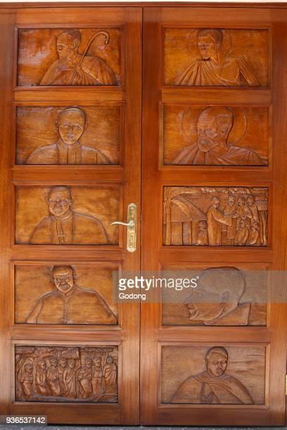 Namugongo catholic martyrs' shrine Kampala Church door Uganda
