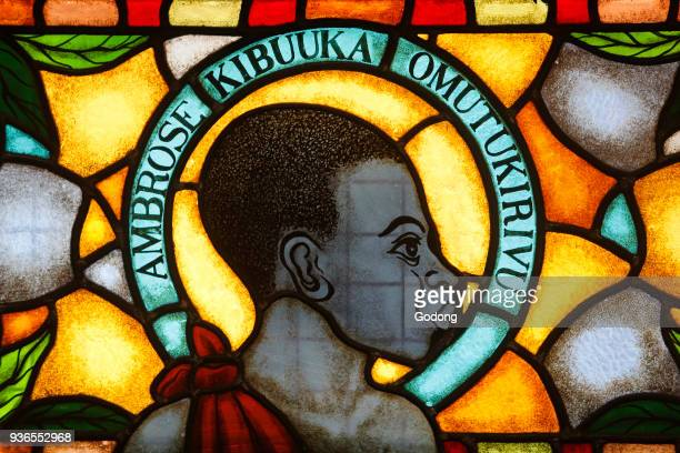 Namugongo catholic martyrs' shrine Kampala Stained glass in the church Martyr Uganda