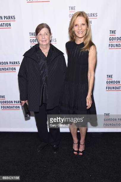 Nan Bush and Sandy Brant attends the 2017 Gordon Parks Foundation Awards gala at Cipriani 42nd Street on June 6 2017 in New York City