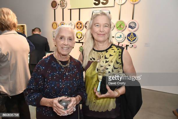 Nan Corman and Nell Newman attend the Phillips Los Angeles October Highlights Reception on October 12 2017 in Los Angeles California