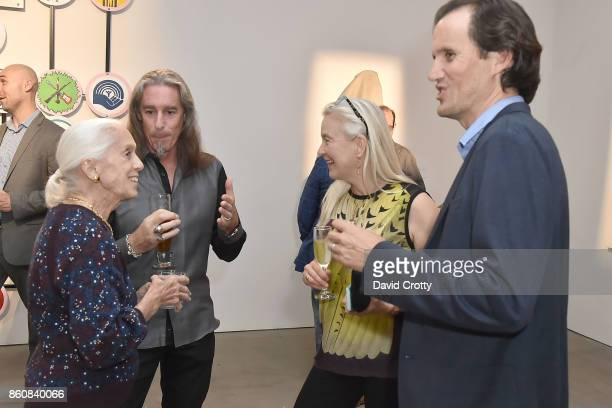 Nan Corman Gary Irving Nell Newman and Blake Koh attend the Phillips Los Angeles October Highlights Reception on October 12 2017 in Los Angeles...