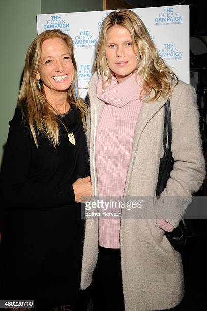 Nan Hauser and Alexandra Richards attend The Ocean Campaign Launch Party at The Late Late on December 9 2014 in New York City