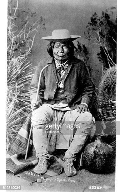 Nana a Chiricahua Apache subchief ca 1886   Location photography studio
