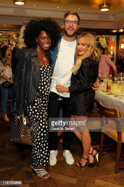 Nana Acheampong Iain Stirling and Caroline Flack attend a VIP dinner hosted by Caroline Flack to celebrate the launch of her second collection with...