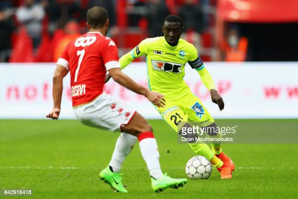 Nana Asare of KAA Gent in action during the Belgian Jupiler Pro League match between Royal Standard de Liege and KAA Gent held at Stade Maurice...
