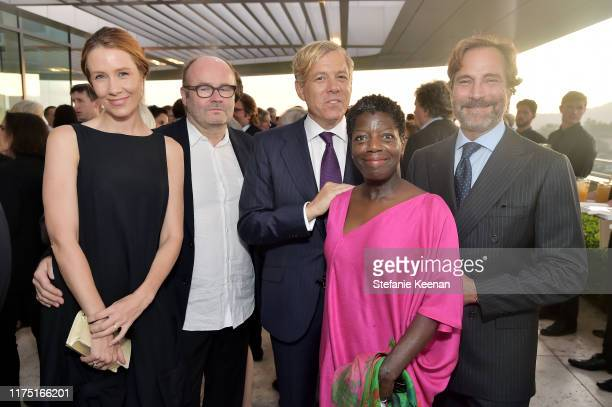 Nana Demand, Thomas Demand, Michael S. Smith, Thelma Golden and James Costos attend The J. Paul Getty Medal Dinner 2019 at The Getty Center on...