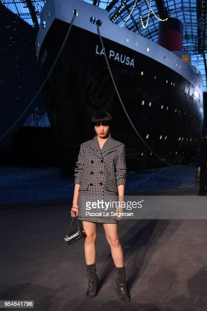 Nana Komatsu attends the Chanel Cruise 2018/2019 Collection at Le Grand Palais on May 3 2018 in Paris France