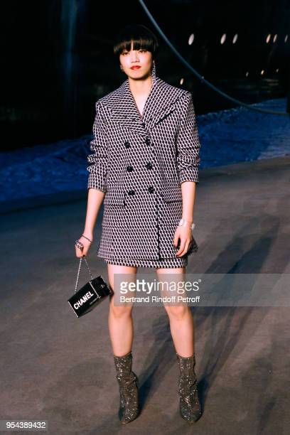 Nana Komatsu attends the Chanel Cruise 2018/2019 Collection Photocall at Le Grand Palais on May 3 2018 in Paris France