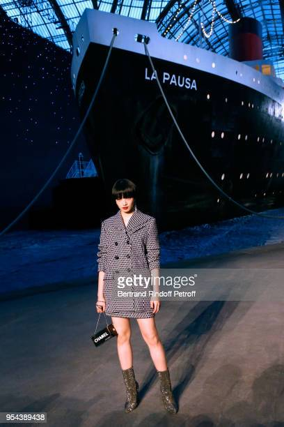 Nana Komatsu attends the Chanel Cruise 2018/2019 Collection : Photocall, at Le Grand Palais on May 3, 2018 in Paris, France.