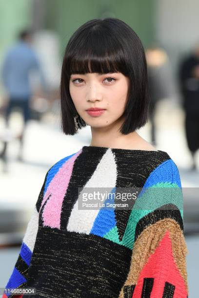 Nana Komatsu attends the Chanel Cruise 2020 Collection : Photocall In Le Grand Palais on May 03, 2019 in Paris, France.
