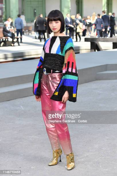 Nana Komatsu attends the Chanel Cruise Collection 2020 : Photocall At Grand Palais on May 03, 2019 in Paris, France.
