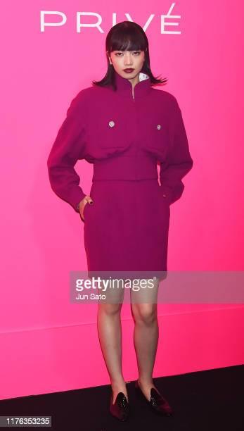 Nana Komatsu attends the Chanel Mademoiselle Prive Tokyo on October 17, 2019 in Tokyo, Japan.