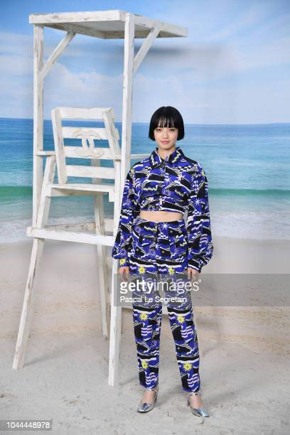 Nana Komatsu attends the Chanel show as part of the Paris Fashion Week Womenswear Spring/Summer 2019 on October 2, 2018 in Paris, France.
