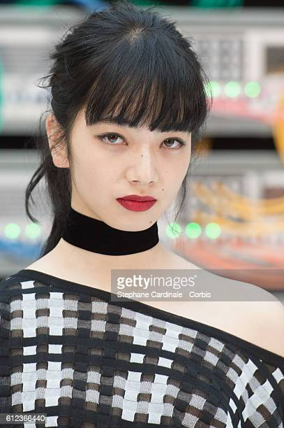 Nana Komatsu attends the Chanel show as part of the Paris Fashion Week Womenswear Spring/Summer 2017 on October 4 2016 in Paris France