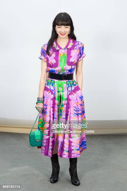 Nana Komatsu attends the Chanel show as part of the Paris Fashion Week Womenswear Fall/Winter 2017/2018 on March 7, 2017 in Paris, France.